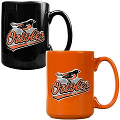 Baltimore Orioles 2 pc Ceramic Mug Set