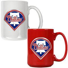 Philadelphia Phillies 2 pc Ceramic Mug Set