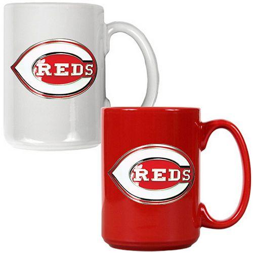 Cincinnati Reds 2-pc. Ceramic Mug Set
