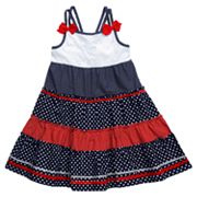 Youngland Star and Dot Tiered Sundress - Girls 4-6x