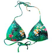 Mudd Tropical Push-Up Triangle Bikini Top