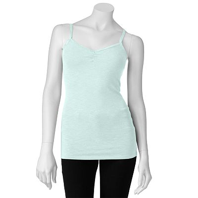 Mudd Slubbed Ruched Camisole - Juniors