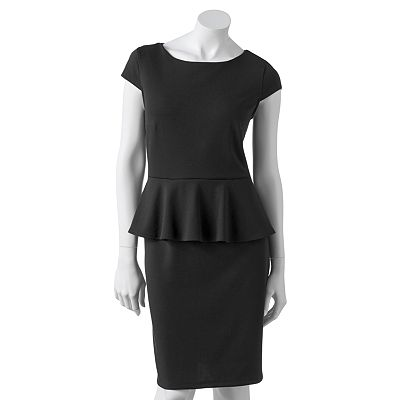 Apt. 9 Peplum Ponte Sheath Dress