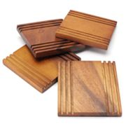 Bobby Flay 4-pc. Acacia Coaster Set