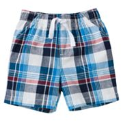 Jumping Beans Plaid Canvas Shorts - Baby