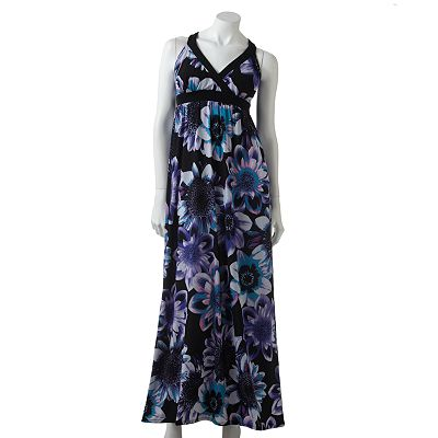 ELLE Floral Empire Maxi Dress