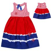 Dollie and Me Star Striped Dress - Girls 4-6x