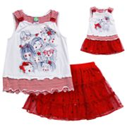 Dollie and Me Star Girl Tank and Tiered Scooter Set - Girls 4-6x