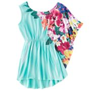 Candie's Asymmetrical Floral Sublimation Top - Girls 7-16