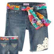Candie's Belted Denim Bermuda Shorts - Girls 7-16
