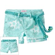Candie's Floral Belted Denim Shorts - Girls 7-16