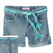 Candie's Roll-Cuff Belted Denim Shorts - Girls 7-16