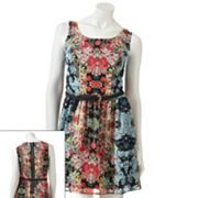 Speechless Floral Sleeveless Dress - Juniors