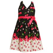 Jessica Ann Cherry Dot Halter Sundress - Girls 4-6x