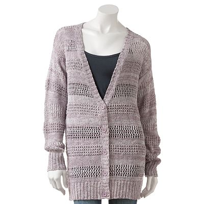 Eyelash Marled Cardigan - Juniors