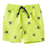 Jumping Beans Frog Canvas Shorts - Baby