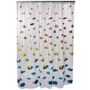 Home Classics Fab Fish PEVA Shower Curtain