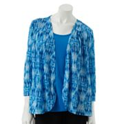 Sag Harbor Brushstroke Embellished Cardigan Set