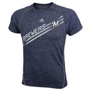adidas Milwaukee Brewers Heathered Performance Top - Boys 8-20
