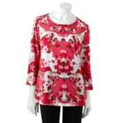 Sag Harbor Floral Embellished Top