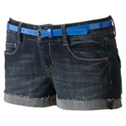 SO Frayed Cuff Denim Shortie Shorts