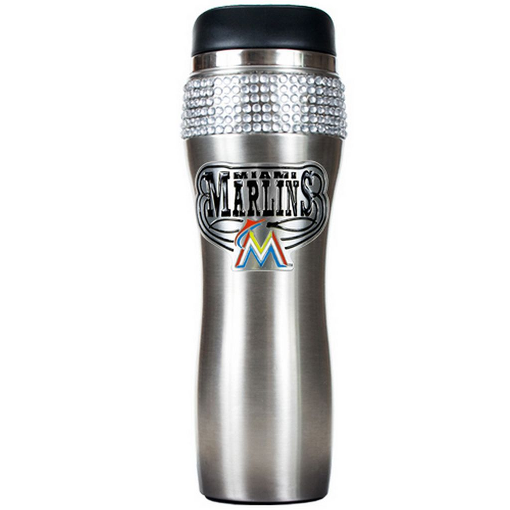 Miami Marlins Stainless Steel Tumbler