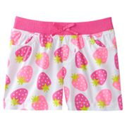 Jumping Beans Strawberry Woven Shorts - Toddler