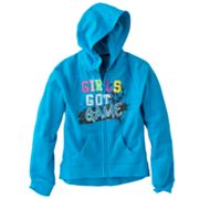 SO Girls Got Game Hi-Low French Terry Hoodie - Girls Plus