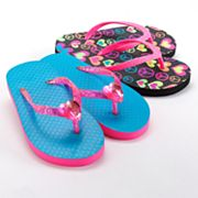 Jumping Beans 2-pk. Neon Peace Sign and Heart Flip-Flops - Girls