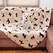 Carolina Pet Co. Plush Embossed Tossed Dog Throw - 90 x 60