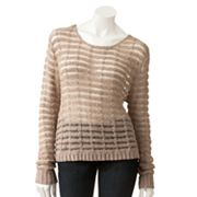 LC Lauren Conrad Lurex Tape Yarn Sweater