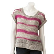 LC Lauren Conrad Striped Tape Yarn Sweater