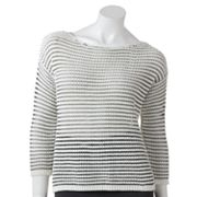 LC Lauren Conrad Textured Cropped Sweater