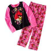 Angry Birds Wake Up and Play Fleece Pajama Set - Girls