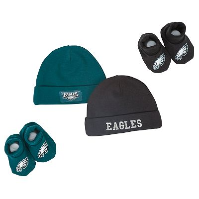 Philadelphia Eagles Hat and Booties Set - Baby