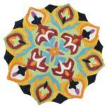 Loloi Azalea Black Flower Rug - 3' Round