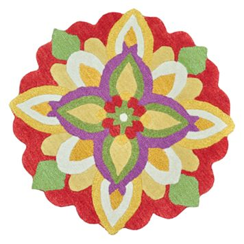 Loloi Azalea Flower Rug - 3' Round