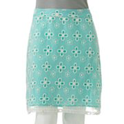 Jennifer Lopez Eyelet Mesh Pencil Skirt