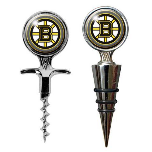 Boston Bruins Cork Screw and Wine Bottle Topper Set