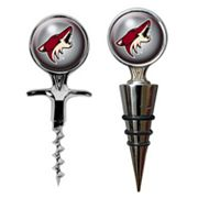 Phoenix Coyotes Cork Screw and Wine Bottle Topper Set