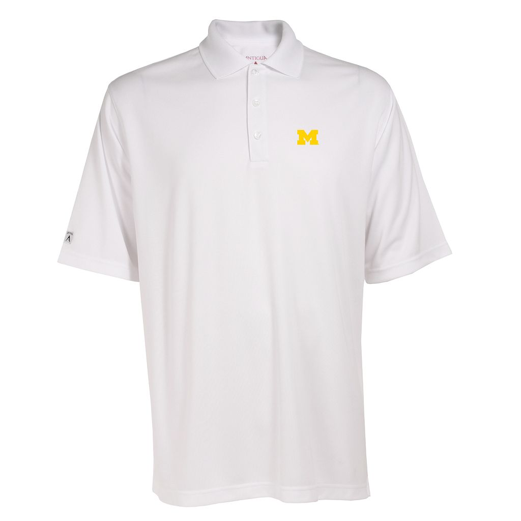 Men's Michigan Wolverines Exceed Desert Dry Xtra-Lite Performance Polo
