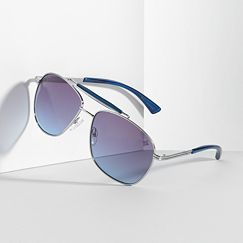Simply Vera Vera Wang I Thee Wed Aviator Sunglasses