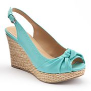 Apt. 9 Peep-Toe Slingback Wedges - Women