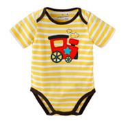 Jumping Beans Striped Train Bodysuit - Baby
