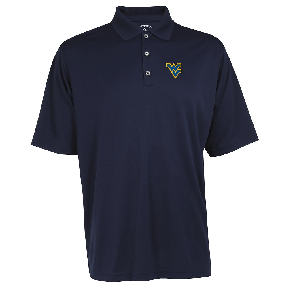 Men's West Virginia Mountaineers Exceed Desert Dry Xtra-Lite Performance Polo