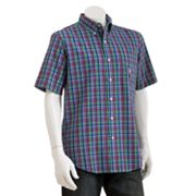 Chaps Easy-Care Charleston Plaid Casual Button-Down Shirt