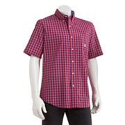 Chaps Easy-Care Coosaw Checked Casual Button-Down Shirt