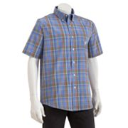 Chaps Easy-Care Sapelo Plaid Casual Button-Down Shirt
