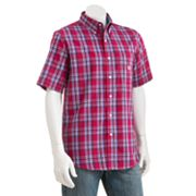 Chaps Easy-Care Jacksonville Plaid Casual Button-Down Shirt