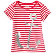 OshKosh B'gosh Striped Anchor Tee - Girls 4-6x